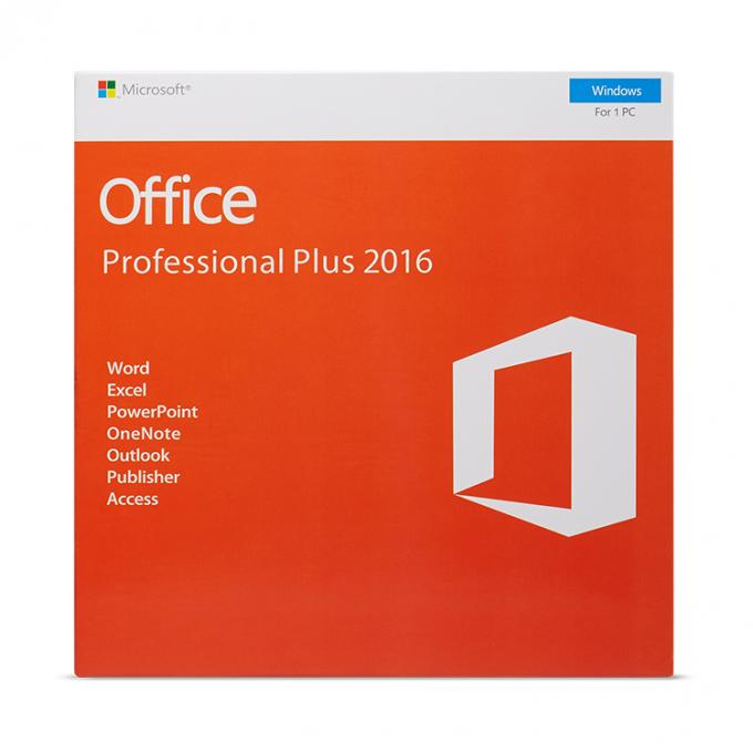 CODEkarte Microsoft Offices 2016 des Bits DVD der Vorlagen-100% on-line-der Aktivierungs-32/64 Schlüsseleinzelhandels-Kasten Pro plus office2016 pp.