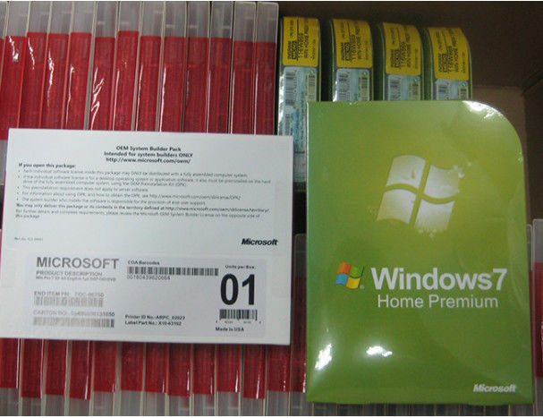 Multi Sprache Microsoft Windows 7 Home Premium, Betriebssystem-FPP Schlüssel Windows 7s